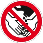 Prohibition sign - Hand washing with solvents prohibited