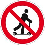 Prohibition sign - scooter driving prohibited