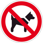 Prohibition sign - Dogs prohibited