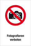 Prohibition sign - prohibited photographing