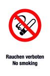 Prohibition Sign - No Smoking / No Smoking