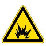 Warning sign - warning of explosion hazard