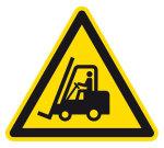 Warning sign - warning of industrial trucks