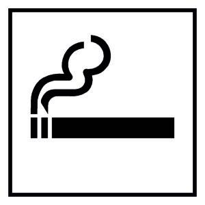 Door sign - smoker zone - aluminum - 5 x 5 cm