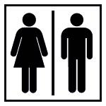 Door signing - WC Ladies | Men's
