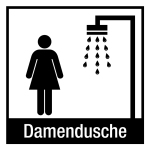 Door sign - lady shower