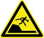 Warning sign - warning of immediate change of depth