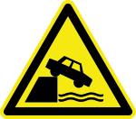 Warning sign - warning of unprotected edges