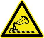 Warning Sign - Warning of Kitesurfing