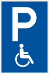 Parking sign - wheelchair accessible only