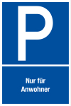 Parking sign - Only for residents