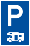 Parking sign - only for campers