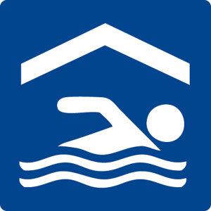 Swimming pool sign - indoor pool - foil self-adhesive - 5 x 5 cm