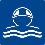 Swimming pool sign - wear swimming cap