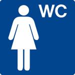 Swimming pool sign - WC ladies