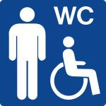 Swimming pool sign - Barrier-free toilet for men