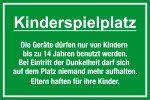 Playground sign - children's playground
