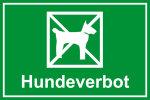 Playground sign - Dog prohibition