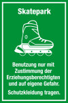 Playground sign - Skatepark