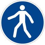 Mandatory sign - use pedestrian path