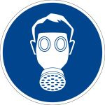 Mandatory sign - Use respiratory protection