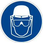 Mandatory Sign - Wear face, head and eye protection
