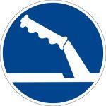 Mandatory sign - Use handbrake when parking