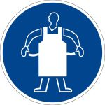Mandatory sign - Use protective apron