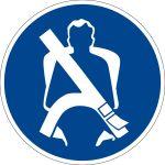 Mandatory sign - wear safety belt
