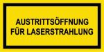 Warning sign - exit opening for laser radiation