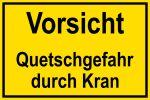 Warning sign - Caution Danger of crushing