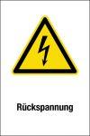 Warning sign - reverse voltage