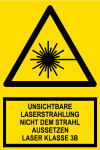 Warning Sign - Invisible Laser Radiation Class 3B Laser