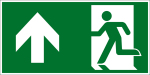 Escape route sign - Escape route straight ahead / top left