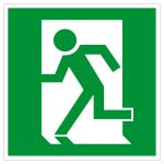 Escape route sign - emergency exit left hand