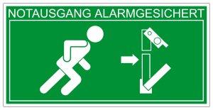 Escape Road Sign - Panic Toggle Right - Foil Self-adhesive - 10 x 20 cm
