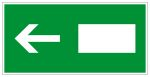 Escape route sign - emergency exit left / right