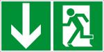 Escape route sign - emergency exit - foil self-adhesive