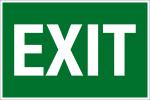 Escape route sign - Exit