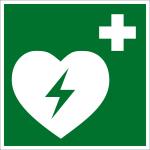 Escape sign - defibrillator