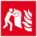 Fire safety sign - fire blanket
