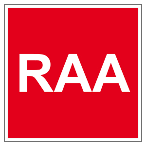 Fire protection sign - RAA - plastic - 5 x 5 cm