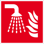 Fire safety sign - water mist tube