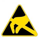 Warning sign - electronics protection zone