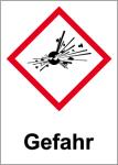 GHS marking - Danger, explosive substances