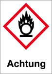 GHS marking - Attention, igniting substances