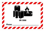 Danger sign - UN 3090 Phone, for small packages