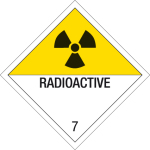 Danger sign - radioactive substances