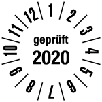 Annual test sticker 2020 | JP620 | favorite color