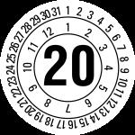 Annual test sticker 2020   JP520   favorite color